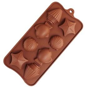 Силиконовая форма для шоколада Морское дно