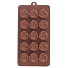 Силиконовая форма для шоколада Завиток