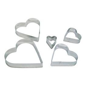 Форма для печенья Сердце (металл) 5 шт