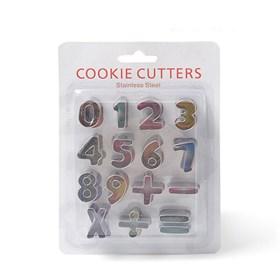 Металлический набор для печенья (Цифры + Знаки)