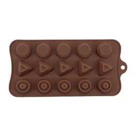 Силиконовая форма для шоколада Конфетки ассорти