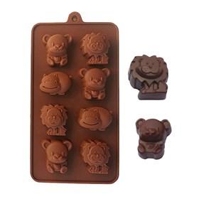 Силиконовая форма для шоколада Зоопарк