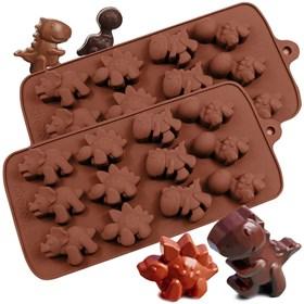 Силиконовая форма для шоколада Динозаврики