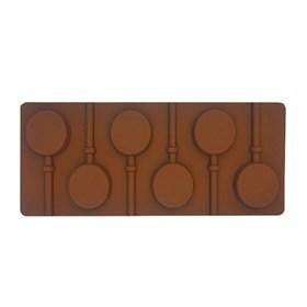 Силиконовая форма для шоколада Леденец