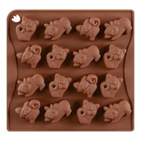 Силиконовая форма для шоколада Котята