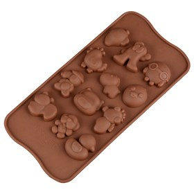 Силиконовая форма для шоколада Зверюшки