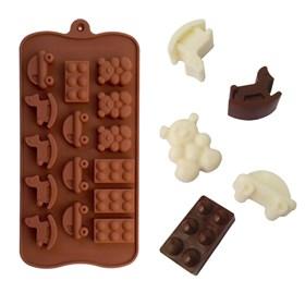 Силиконовая форма для шоколада Игрушки