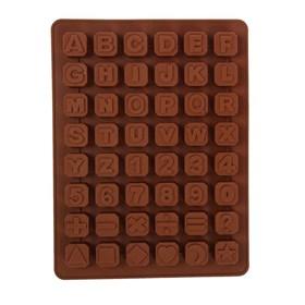 Силиконовая форма для шоколада Английские Буквы+Цифры