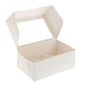 """Коробка на 6 капкейков с """"окном"""""""