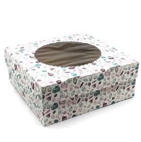 Коробка на 9 капкейков с печатью Sweet