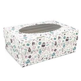 Коробка на 6 капкейков c печатью Sweet