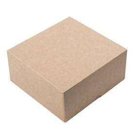"""Коробка на 4 капкейка """"крафт"""" без окна"""