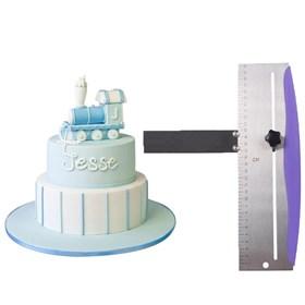 Скребок с уровнем для торта (регулируемый)