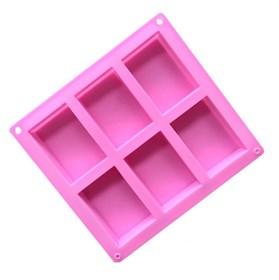 Силиконовая форма для мыла 6 Квадратов