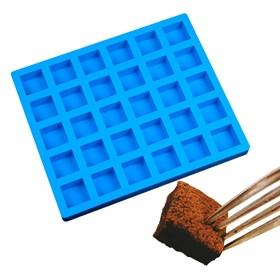 Силиконовая форма для шоколада 30 Квадратов
