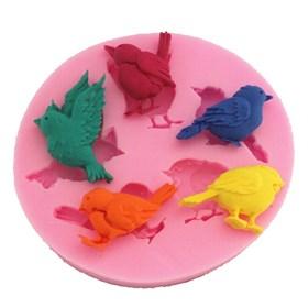 Силиконовый молд Птички (5 видов)