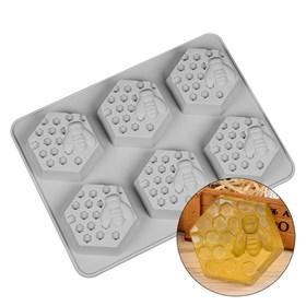 Силиконовая форма для мыла Пчелка на пасеке