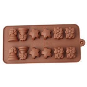 Силиконовая форма для шоколада Подарок