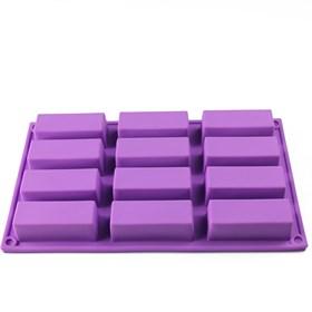 Силиконовая форма для выпечки 12 прямоугольников
