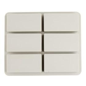 Силиконовая форма для мыла Прямоугольники 6 шт.
