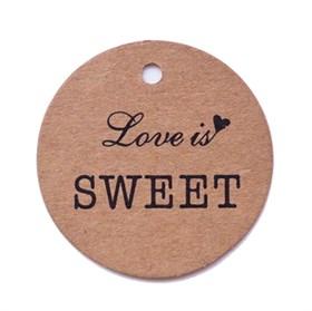 Этикетка-бирка Love is SWEET (25 шт)
