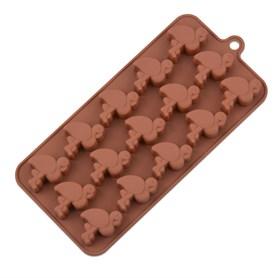 Силиконовая форма для шоколада Фламинго