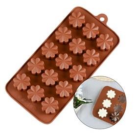 Силиконовая форма для шоколада Цветы №2