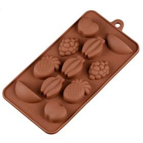 Силиконовая форма для шоколада Фрукты