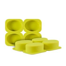 Силиконовая форма для мыла Овалы (4 ячейки)