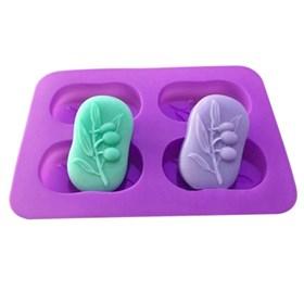 Силиконовая форма для мыла Веточка с оливками