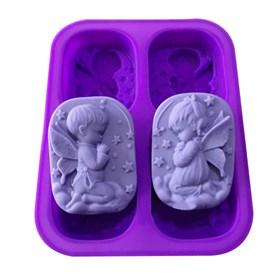 Силиконовая форма для мыла Ангелы